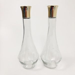 Vintage 1950's Glass Jars (2) with Screw on Lids